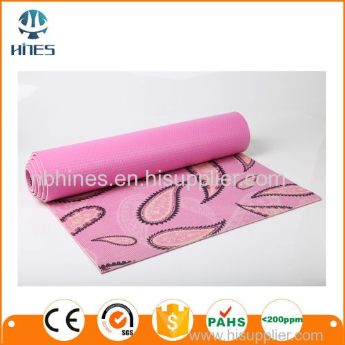 Customized anti slip pvc yoga mat