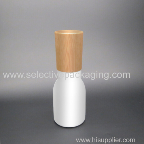 40ml luxury opal glass lotion bottle wooden lid