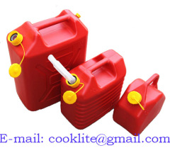 Polyethylene Diesel Fuel Can No-Spill Plastic Gasoline Jerry Can Oil Container Water Canister Carrier