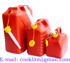 Cool Water Canister 8 Litre Polyethylene (HDPE) Watering Can Oil Fuel Measuring Jug Plastic Pouring Pitcher