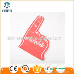 Big colorful sponge finger cheering foam hand