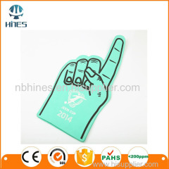 Promotional big custom shocker eva foam finger cheering hands for cheer