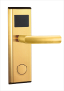 Modern Golden Mechanical Safe Mortise Digital RF Card Electric Lock