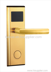 Modern Golden Mechanical Safe Mortise Digital RF Card Electric Lock