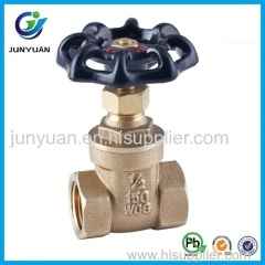 150WOG Brass Gate Valve with Casting Iron Handle
