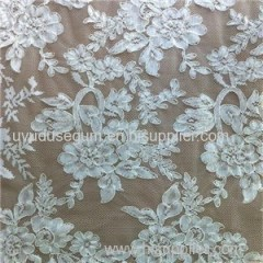 Embroidery Cord Bridal Lace Fabrics
