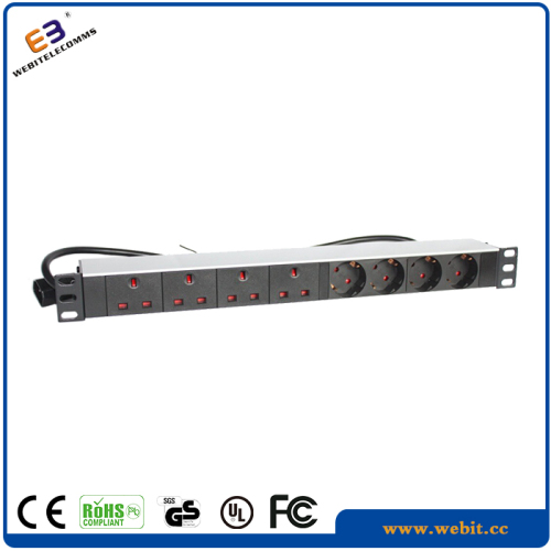 "19"" PDU with UK and Germany sockets"