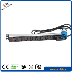 "19"" 8 way IEC PDU with circuit breaker"