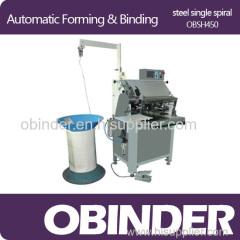 Obinder Automatic spiral wire notebook binding machine
