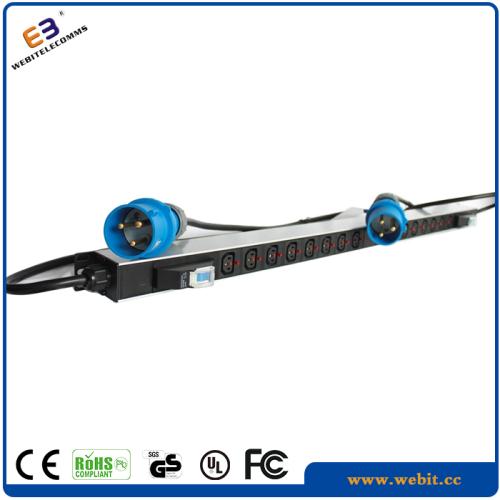 Rack mounted Power strip with 2 CEE form plug