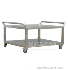 Cleanroom stainless steel trolley/rack car