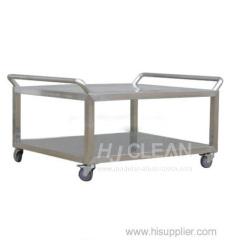 Cleanroom stainless steel trolley/rack car