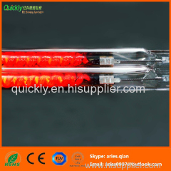 Carbon medium wave quartz IR emitter