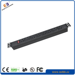 us 1u plastic pdu with surge protection