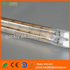 Short wave quartz heating IR emitter