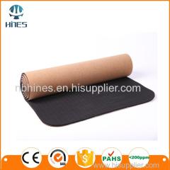 Square Cork Yoga Mat With Digital Printing/ Eco-friendly cork TPE yoga mat/New Product Cork Organic UV print Tpe Yoga Ma