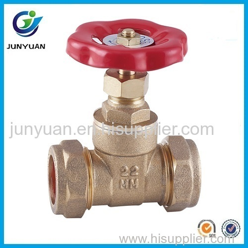 22mm brass gate valve with aluminum handwheel