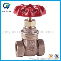 BRONZE GATE VALVE WITH CAST IRON HANDWHEEL
