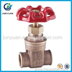 Bronze Solder Gate Valve With Casting Iron Handwheel