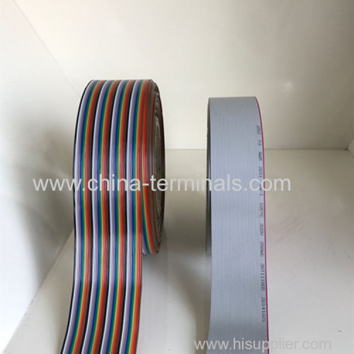 10Ft Multi-Color Flat Ribbon  Cables 10P-64P Conductors 1.27mm