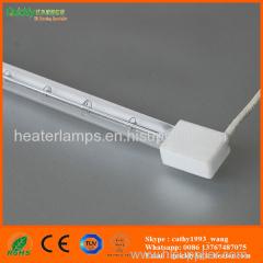 white coated quartz tube infrared emitter