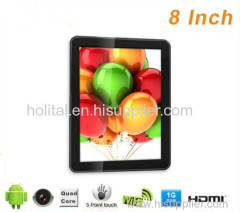 Wholesale 8 inch TFT quad core wifi android tablets with 4000 mAh battery
