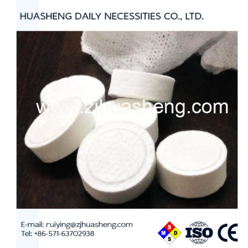 Viscose rayon Coin hand towel tablets magic towel tablet compressed towel