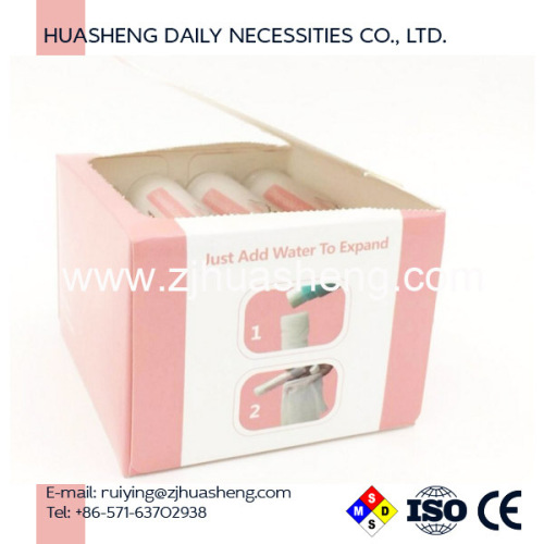 capsule tissue napkin compressed