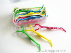 Y-shape dental floss pick