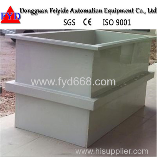Feiyide Customized PP Plating Tank for Gold Nickel Chrome Plating with German PP Plate