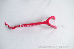 Plastic Y shape dental floss pick