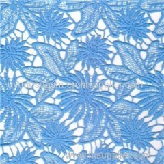 Fancy Blue Color Chemical Lace Fabric For Gament