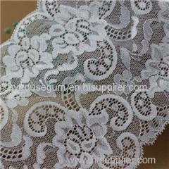 White Flowered Stretch Trimming Galloon Lace for Bridal Dress / Lady′s Lingerie (J0005)
