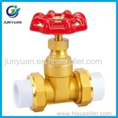 PPR Union Brass Gate Valve with gas medium
