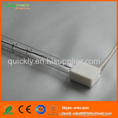 Short wave clear tube infrared emitter