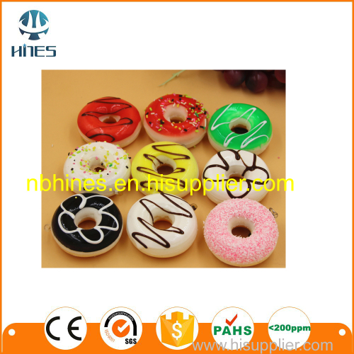 Simulated donuts floating hanging keychain