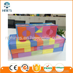 Colorful building toy soft eva foam block kids interlocking building block
