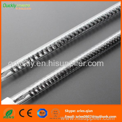 Carbon clear tube infrared emitter