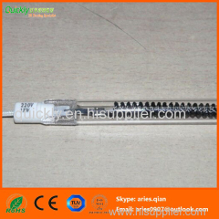 Medium wavelength single tube infrared emitter