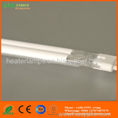 white plated quartz glass ir tube heater