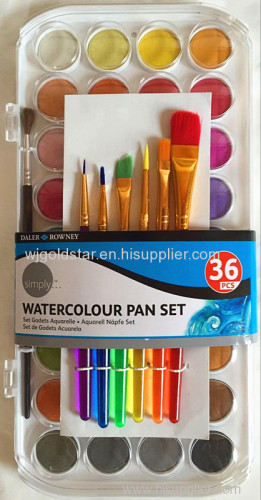 36 Colors Pearlescent Watercolor paint set for Kid's painting