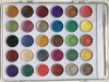 30 Colors Pearlescent Watercolor paint set with wood brush