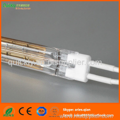 Short wave quartz double tube infrared emitter