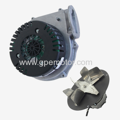 EC exhaust blower for solid fuel heater