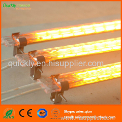 Short wave quartz heating infrared emitter