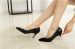 Patent leather pointy toe foldable heel heel dress party ladies shoes