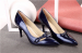 Bowtie patent leather foldabel heel women dress shoes