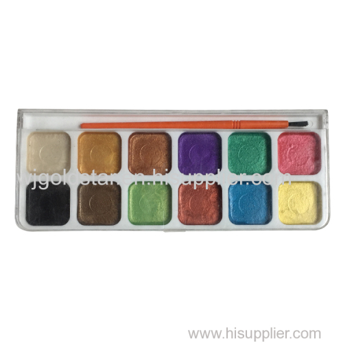 Professional Pearl Watercolor Set 12 colors