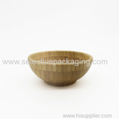 Natural bamboo bowl and spoon