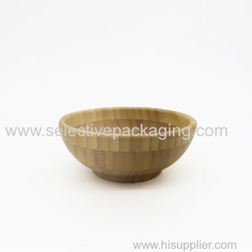 Natural bamboo bowl and spoon